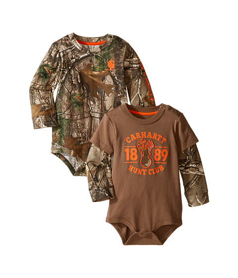 Carhartt Kids Long Sleeved Camo Body Shirt 2-Pack (Infant)