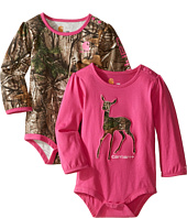 Carhartt Kids - Long Sleeved Pink Camo Body Shirt 2-Pack (Infant)