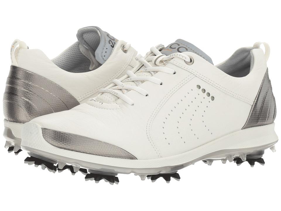 ECCO Golf BIOM G 2 Free (White/Buffed Silver) Women