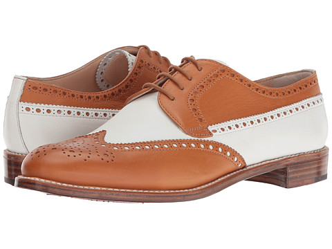 Gravati Calf Leather Wing Tip - Natural/White