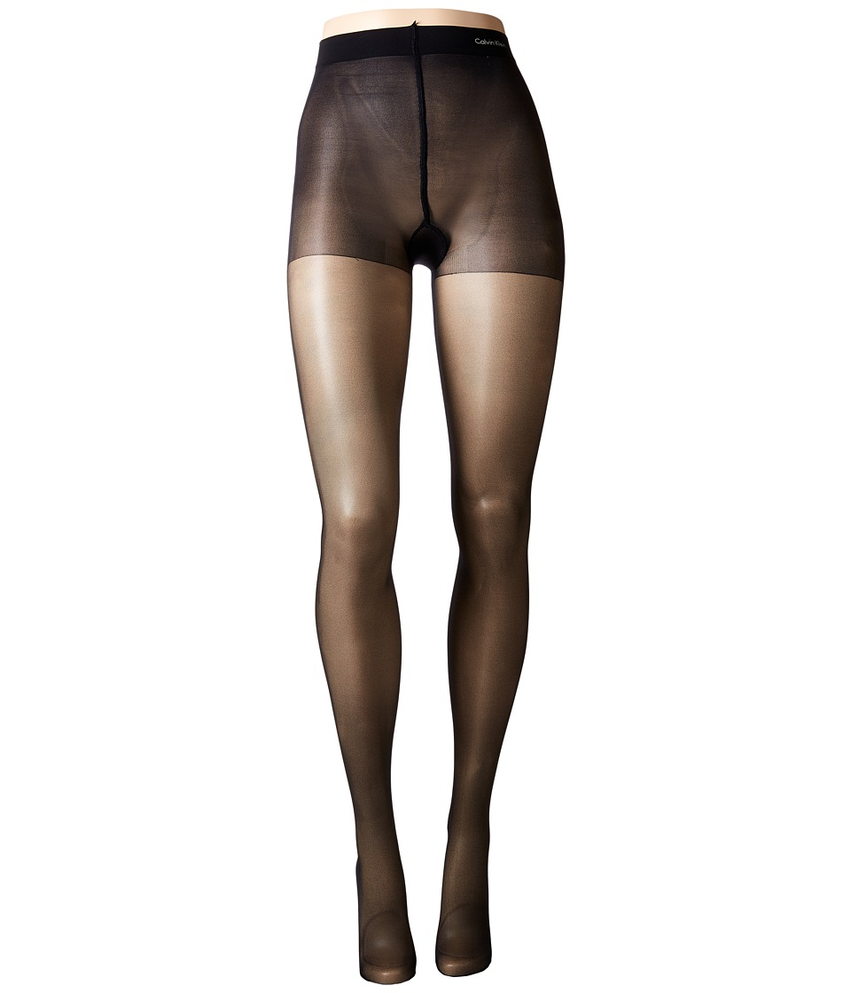 Calvin Klein - Active Sheer w/ Control Top (Black) Control Top Hose