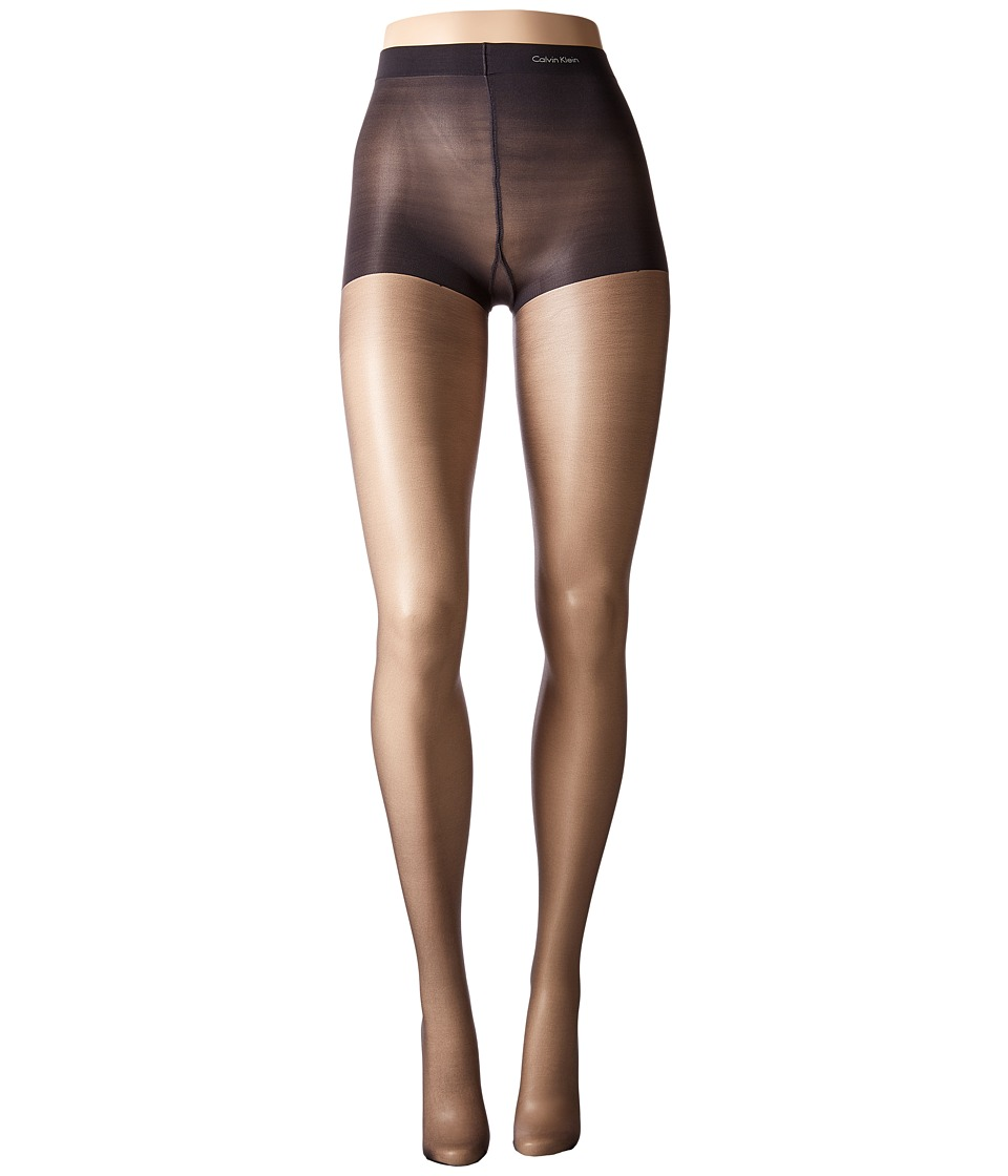Calvin Klein - Infinite Sheer w/ Control Top (Almost Black) Control Top Hose