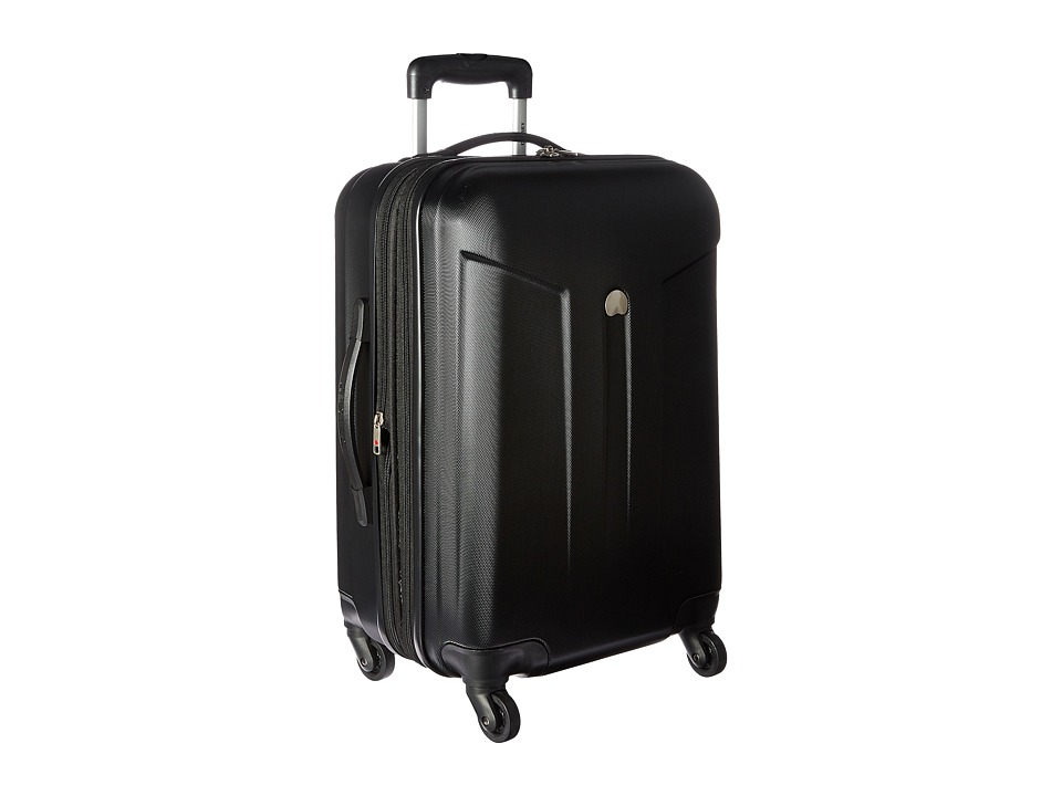 Delsey - Comete 20 Carry-On Expandable Spinner Trolley (Black) Carry on Luggage
