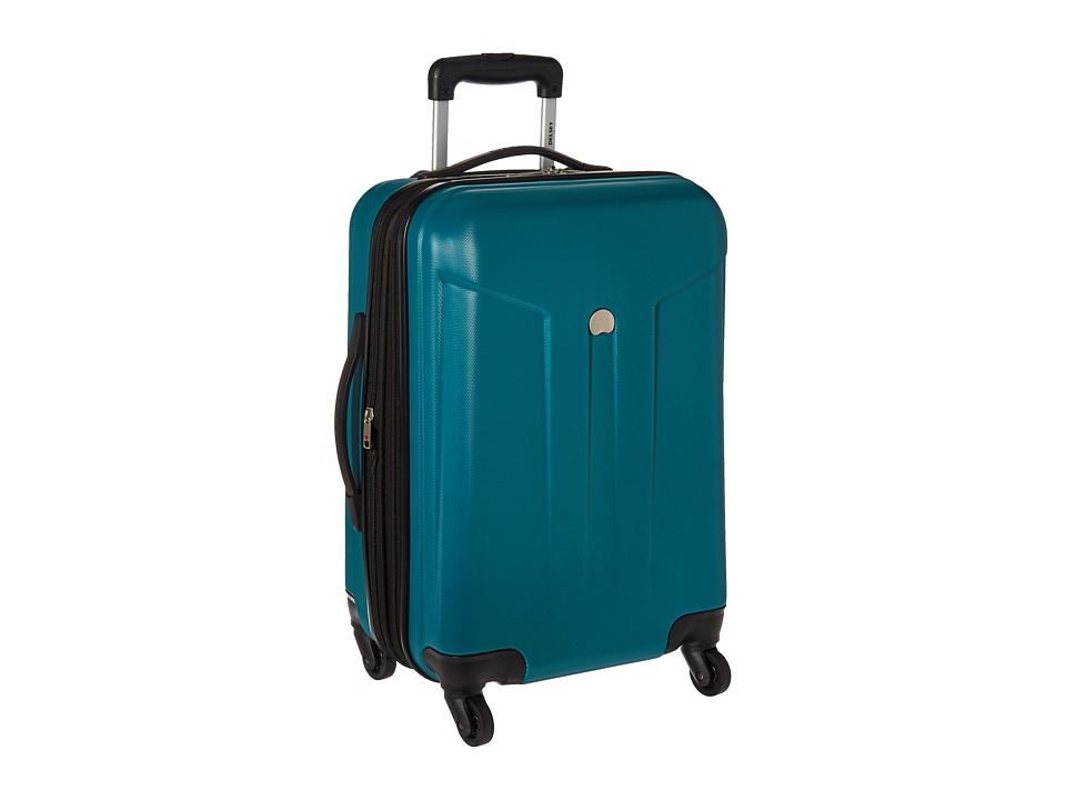 Delsey - Comete 20 Carry-On Expandable Spinner Trolley (Teal) Carry on Luggage