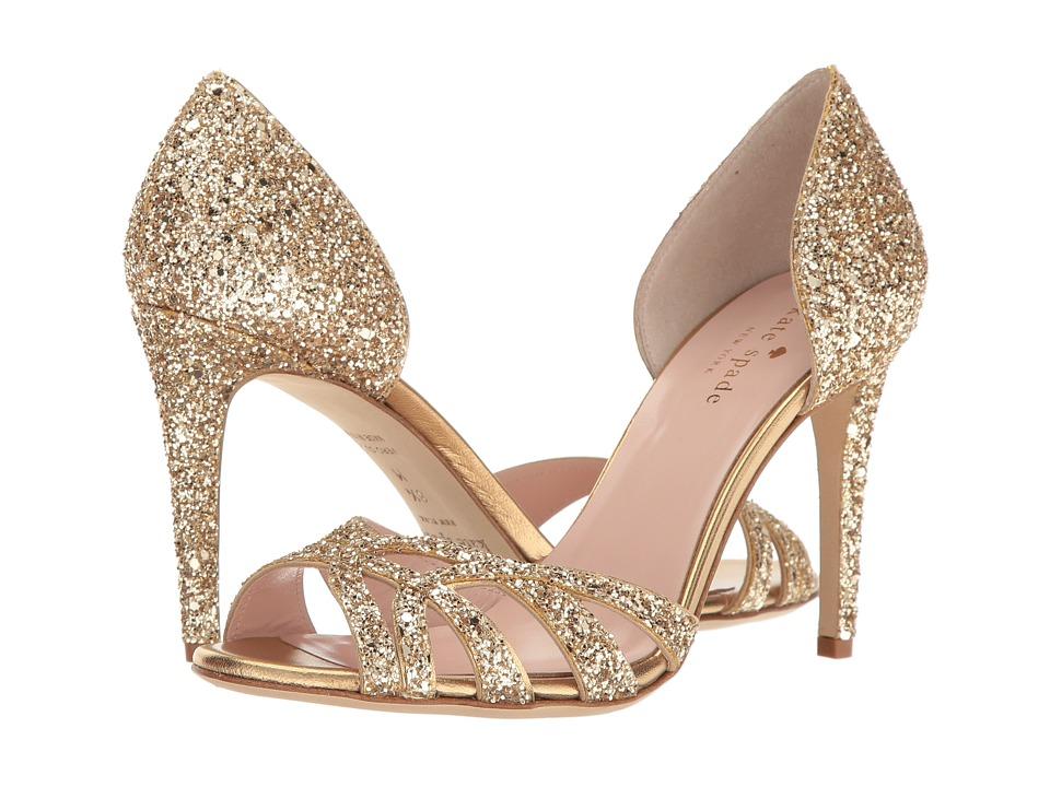 Kate Spade New York Idaya (Gold Glitter/Old Gold Nappa) Women