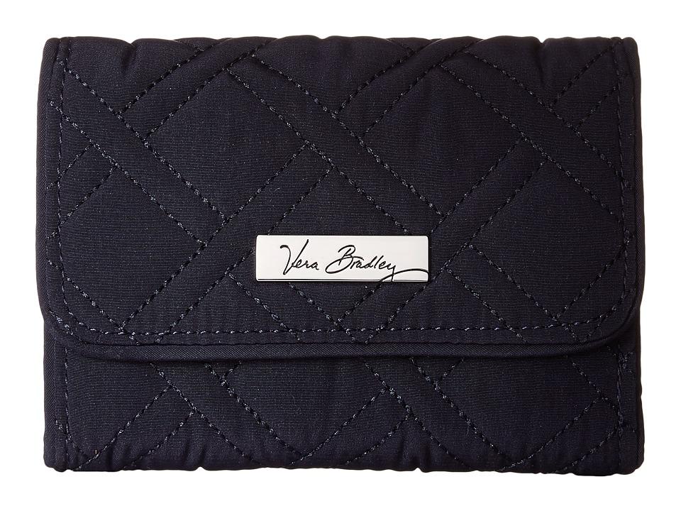 Vera Bradley Riley Compact Wallet (Classic Navy) Bill-fol...