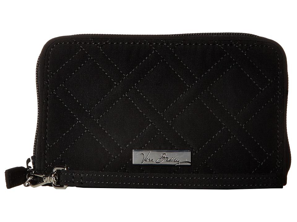Vera Bradley - RFID Grab Go Wristlet (Classic Black) Wristlet Handbags