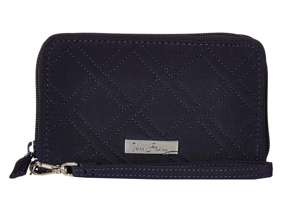 Vera Bradley - RFID Grab Go Wristlet (Classic Navy) Wristlet Handbags