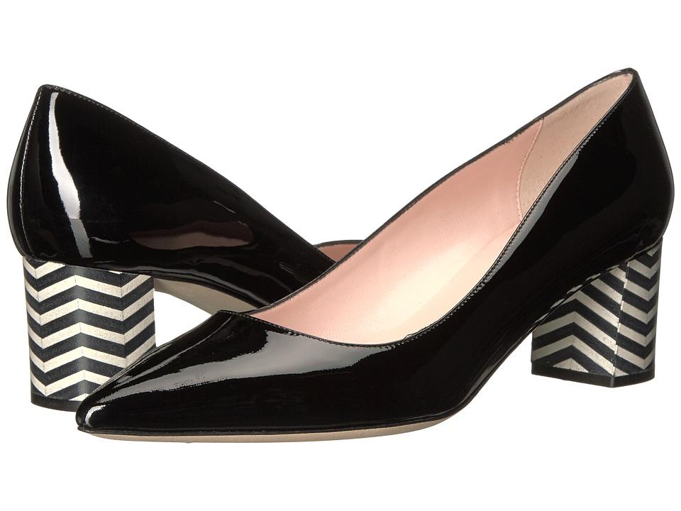 Kate Spade New York Milan (Black Patent/Black/White Chevron) Women