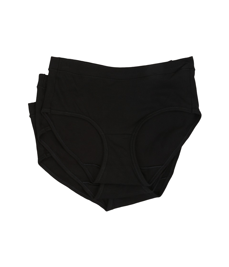 JOCKEY Elance Stretch Hipster - 3 Pack (Black) Women's Un...