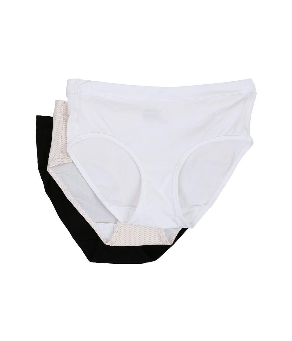 JOCKEY Elance Stretch Hipster - 3 Pack (White/Chevron San...