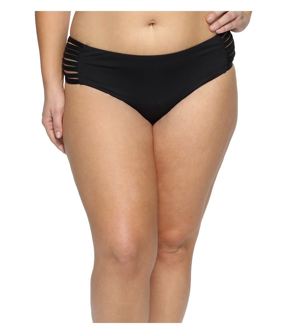 BECCA by Rebecca Virtue Plus Size Electric Current Hipster Bottoms (Black) Women