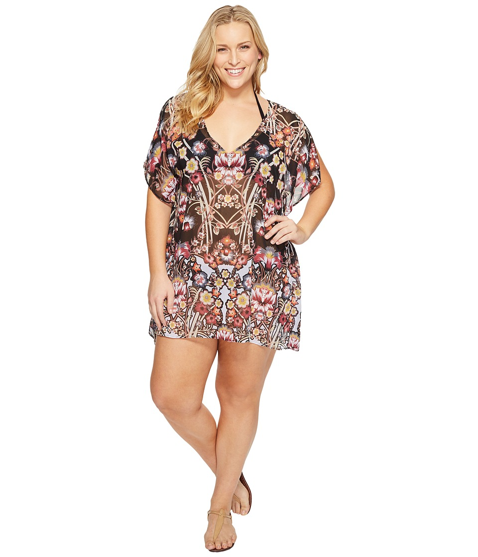 BECCA by Rebecca Virtue Plus Size Havana Tunic Cover-Up (Multi) Women