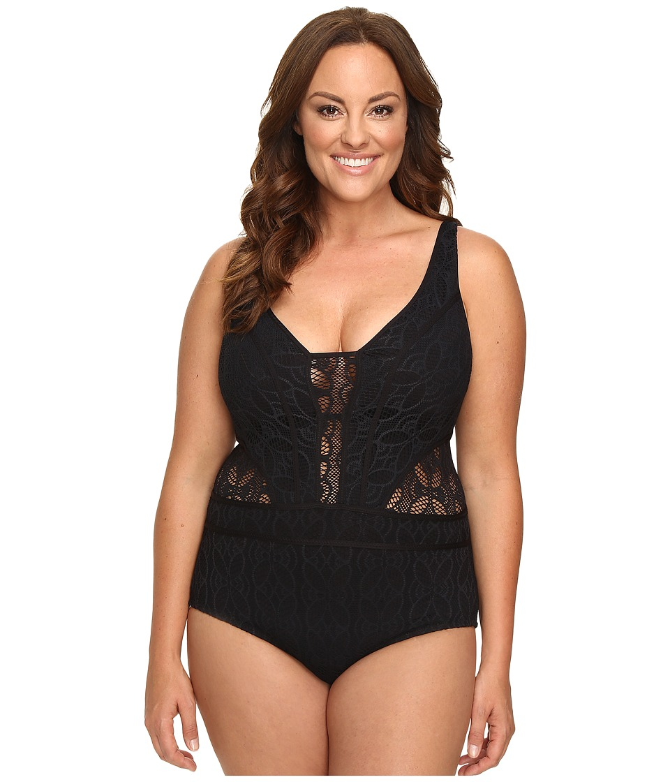 BECCA by Rebecca Virtue - Plus Size Color Play One-Piece