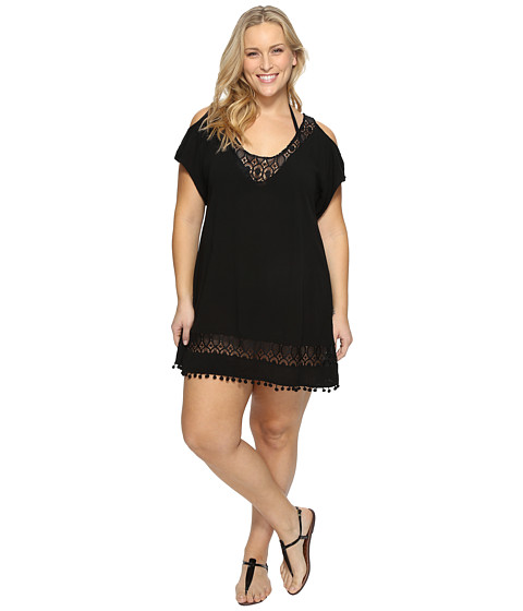 BECCA by Rebecca Virtue Plus Size Poetic Tunic Cover-Up - Black