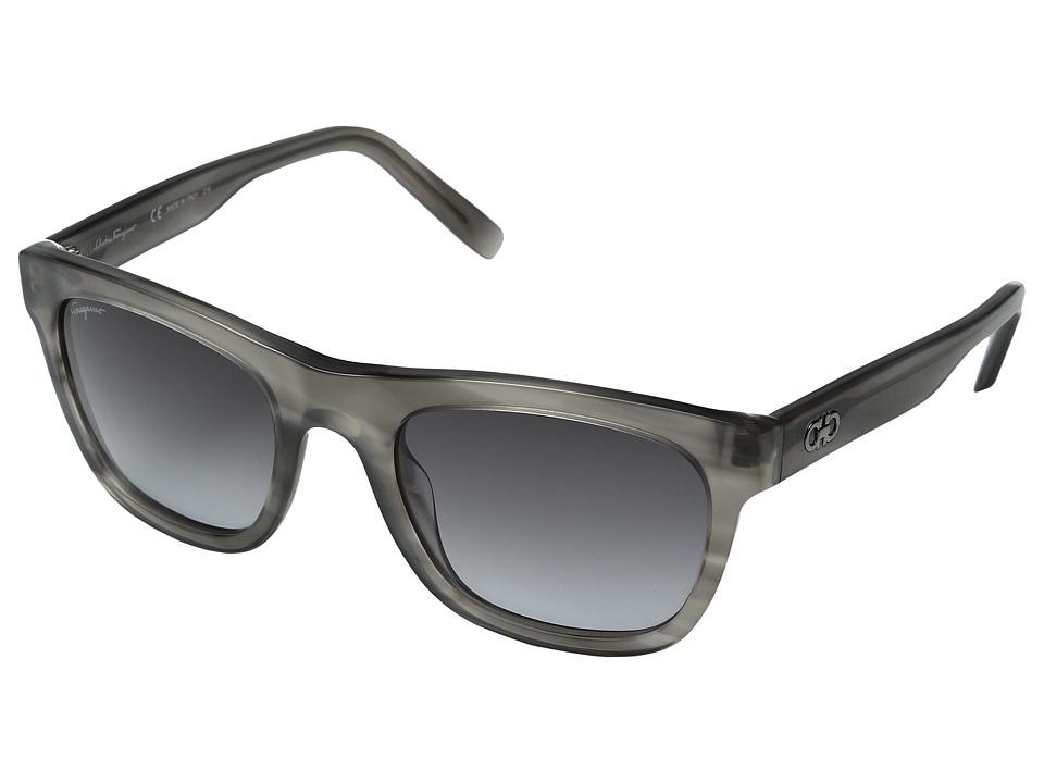Salvatore Ferragamo SF825SM (Striped Grey/Grey Gradient) ...