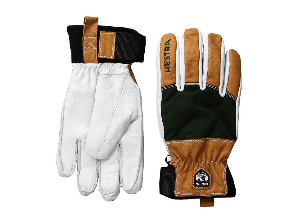 Hestra Army Leather Abisko (Forest) Ski Gloves