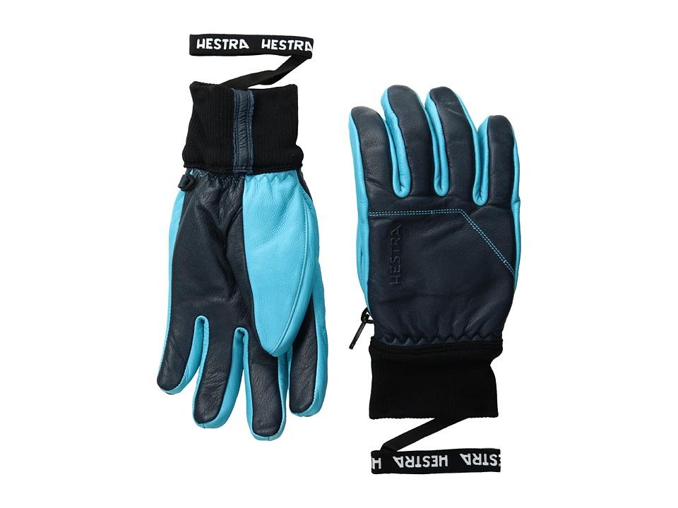 Hestra Omni (Navy/Turquoise) Ski Gloves