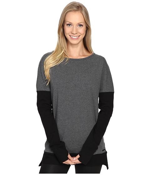 Blanc Noir Crossback Sweatshirt - Charcoal Heather/Black