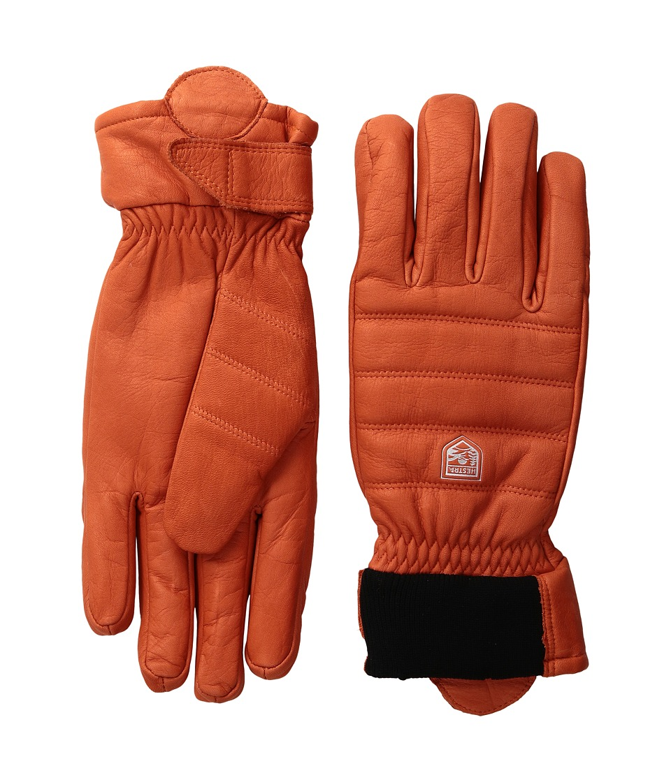 Hestra Alpine Leather Primaloft (Red) Ski Gloves