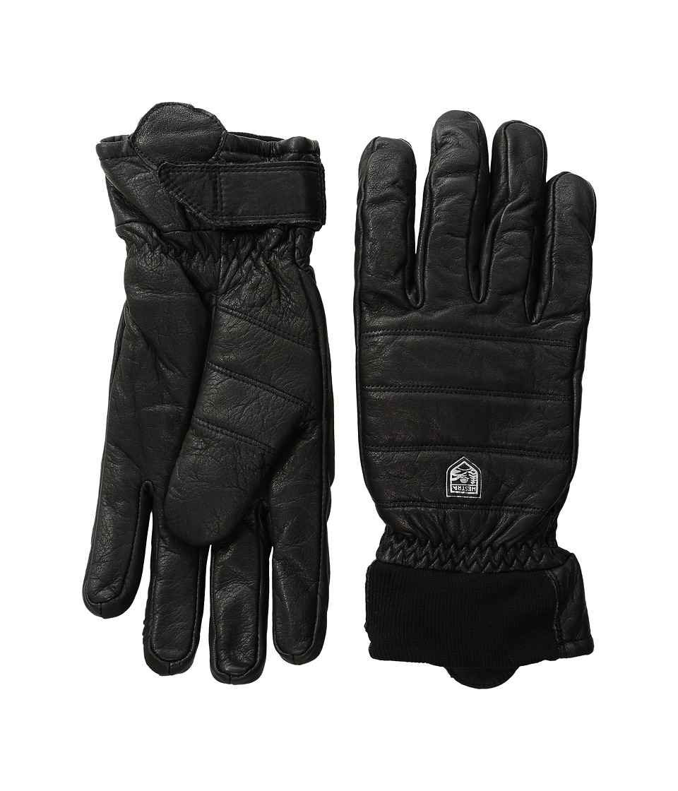 Hestra Alpine Leather Primaloft (Black) Ski Gloves