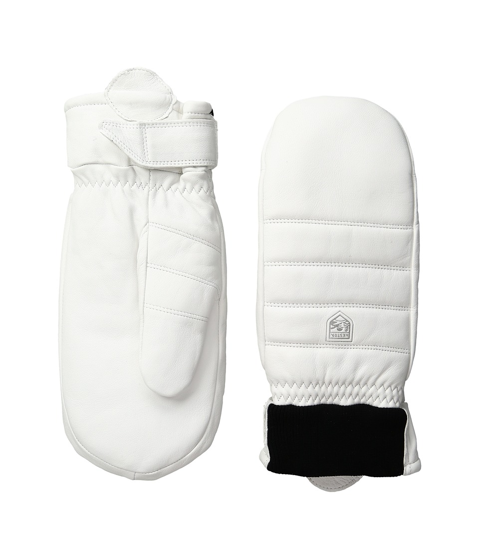 Hestra Alpine Leather Primaloft Mitt (White) Ski Gloves