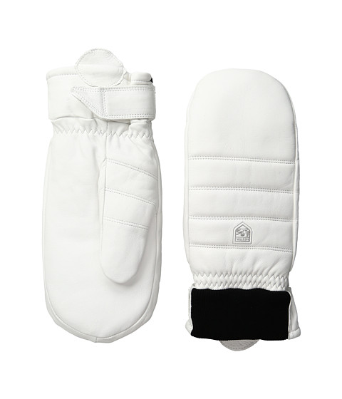 Hestra Alpine Leather Primaloft Mitt - White