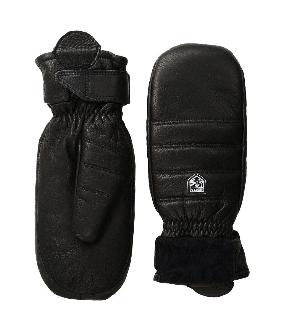 Hestra Alpine Leather Primaloft Mitt (Black) Ski Gloves