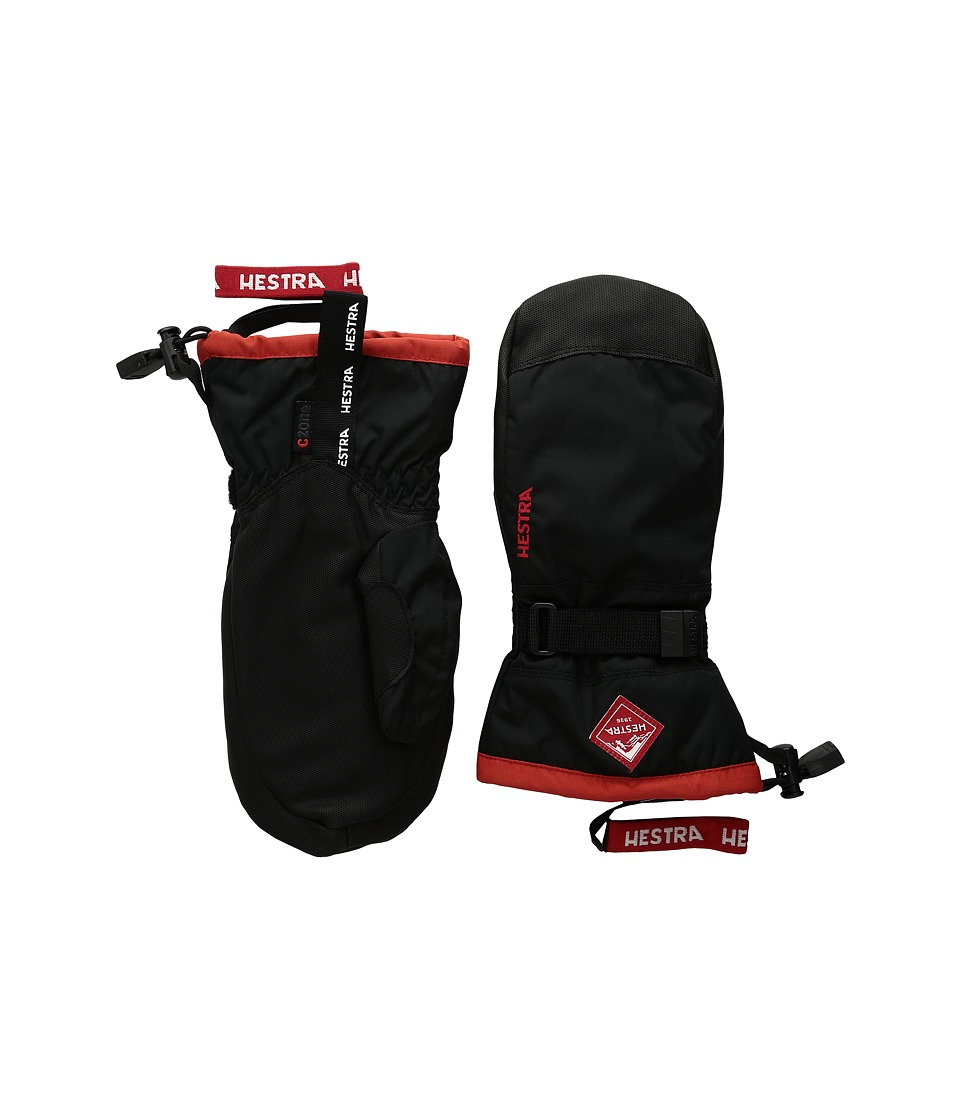 Hestra Gauntlet Czone JR Mitt (Black/Red) Ski Gloves