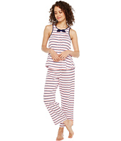 Kate Spade New York - Painterly Stripe Cropped PJ Set