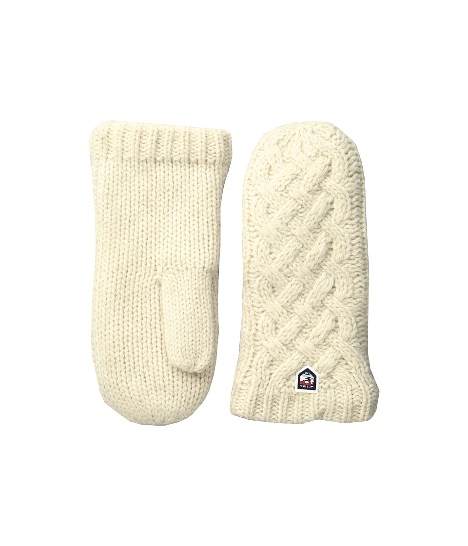 Hestra Freja Wool Mitt (Off-White) Ski Gloves