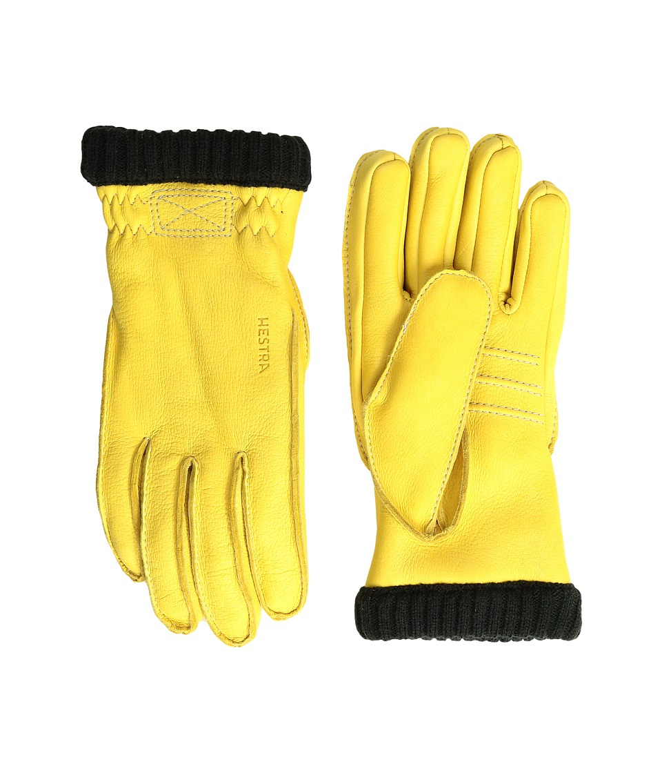 Hestra Deerskin Primaloft Rib (Natural Yellow) Ski Gloves