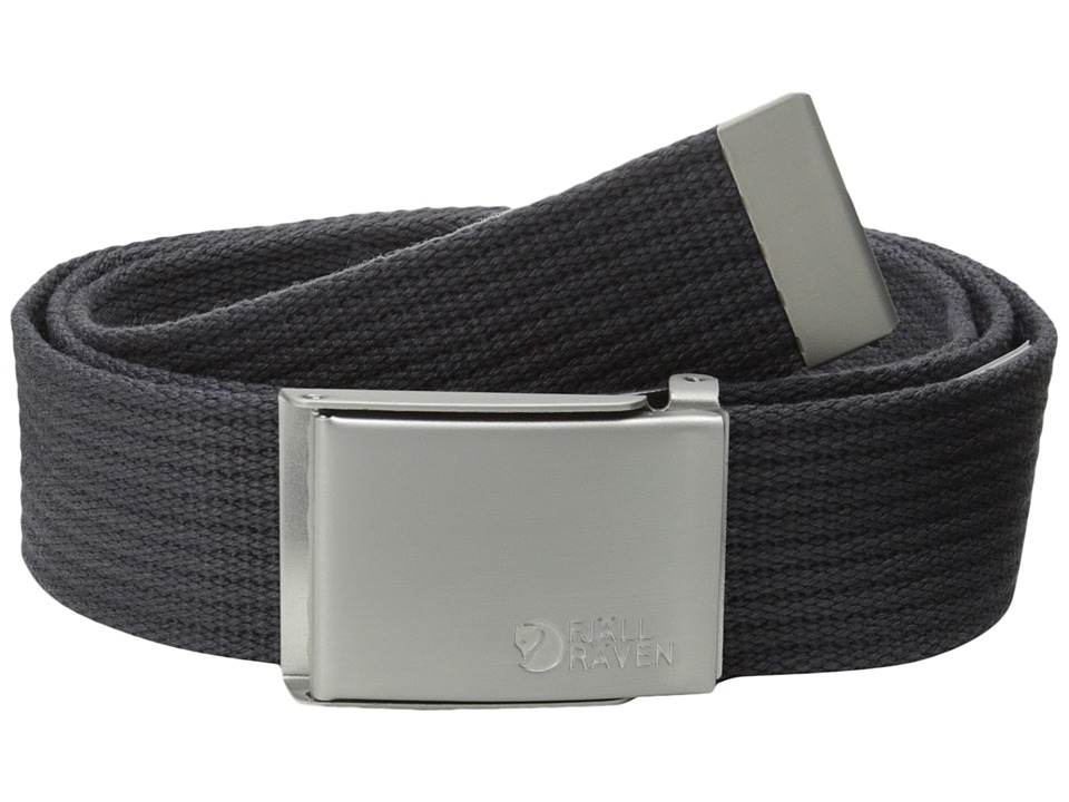 Fjallraven - Canvas Belt (Dark Grey) Belts