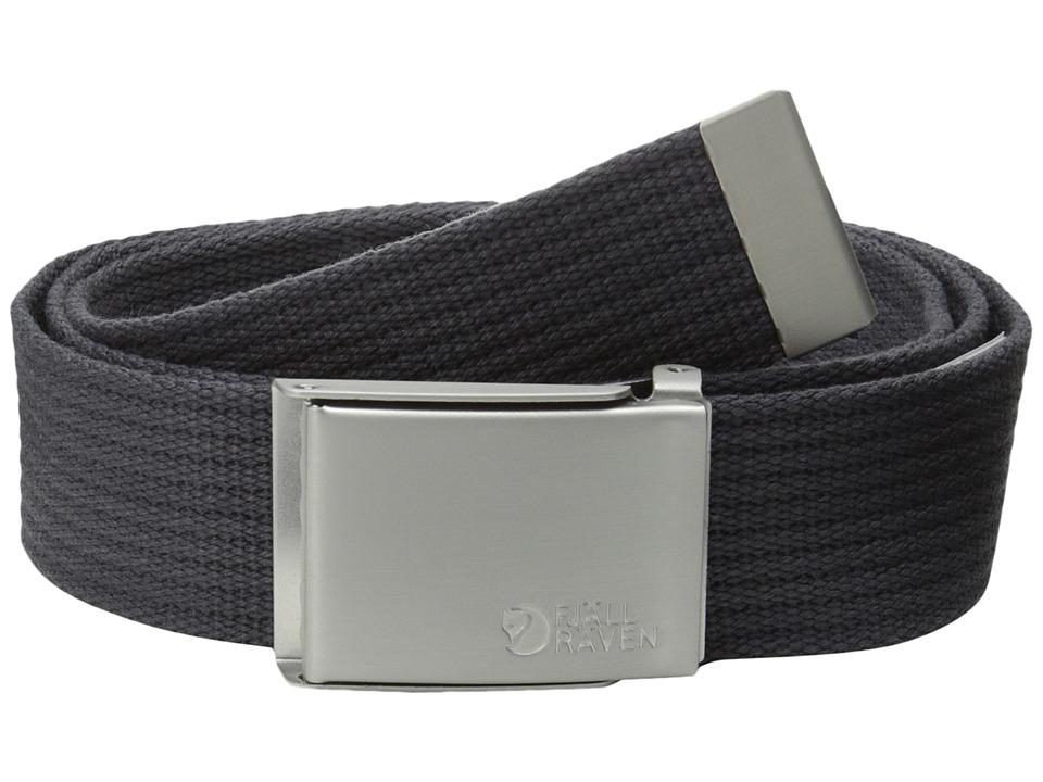 Fjäll Räven Canvas Belt (Dark Grey) Belts