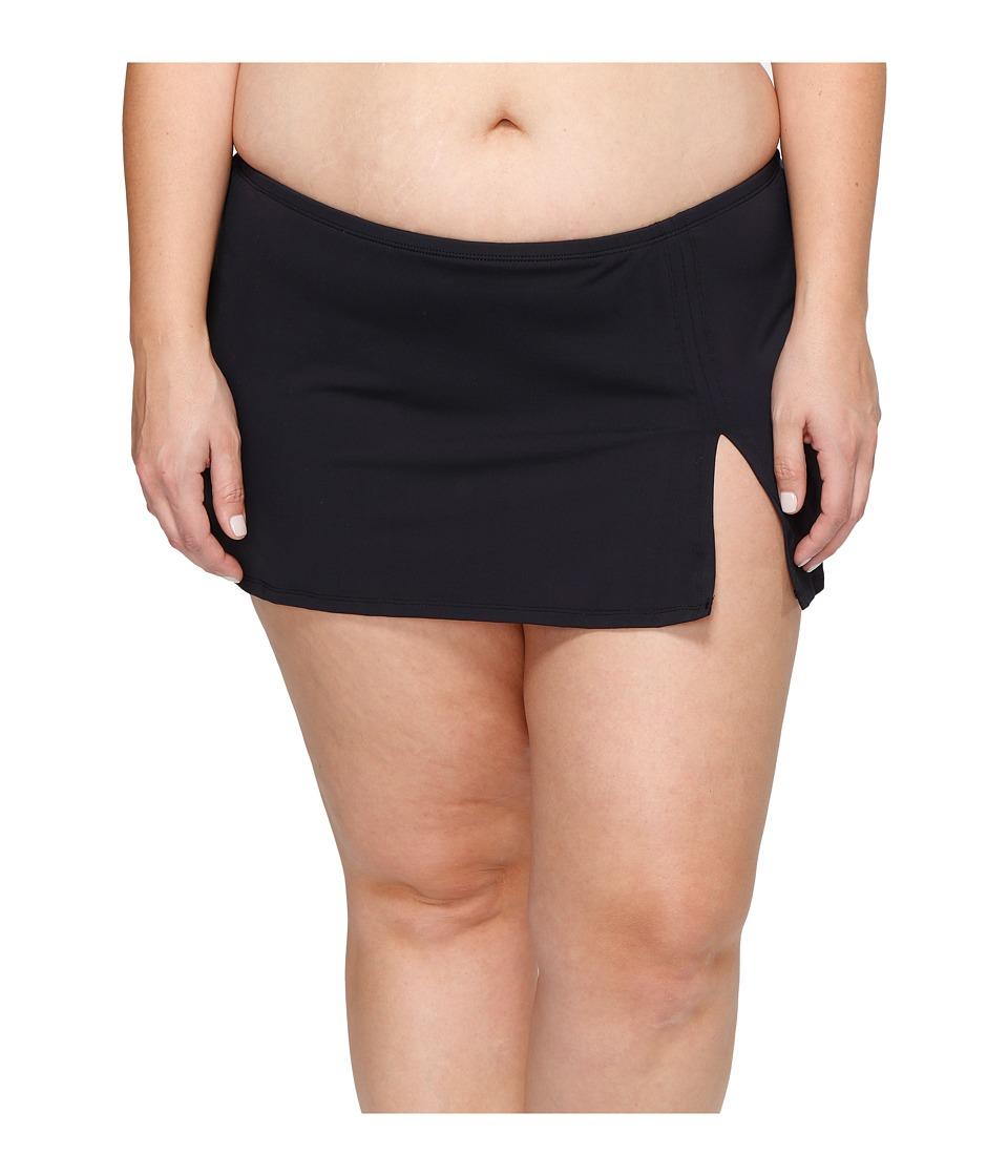 Bleu Rod Beattie Plus Size Knotty But Nice Skirted Hipster Bottom (Black) Women