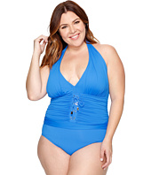 Bleu Rod Beattie - Plus Size Cruise Control Halter Mio One-Piece