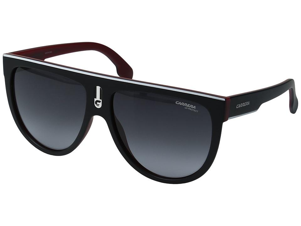 Carrera - Carrera 1000/S (Matte Black Red/Grey Gradient) Fashion Sunglasses