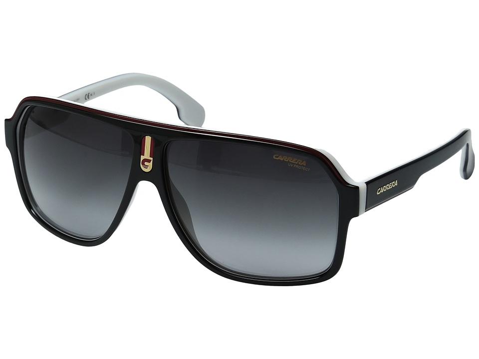 Carrera 1001/S (Black White/Grey Gradient) Fashion Sungla...