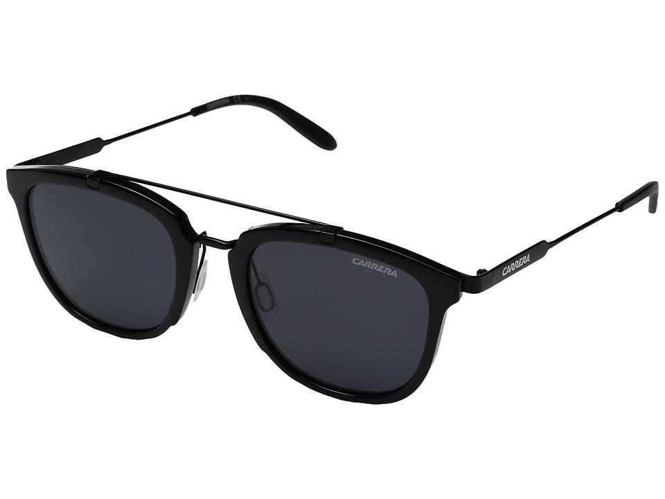 Carrera - Carrera 127/S (Shiny Black Matte Black/Grey Blue) Fashion Sunglasses