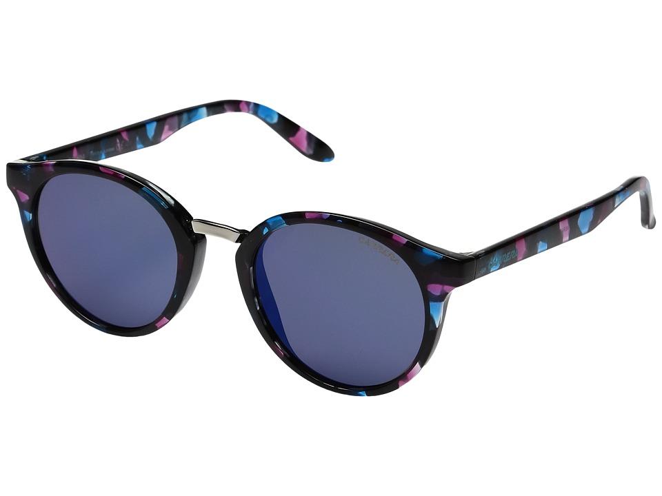 Carrera Carrera 5036/S (Turquoise Havana/Blue Mirror) Fashion Sunglasses