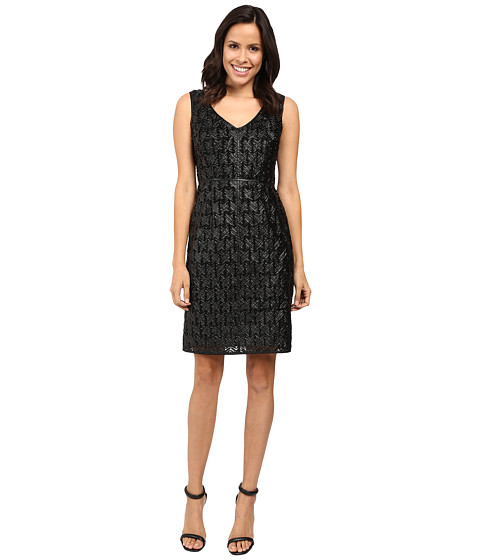 NUE by Shani Sleeveless Leather Novelty Dress