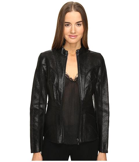 ZAC Zac Posen Veronica Leather Jacket - Ebony