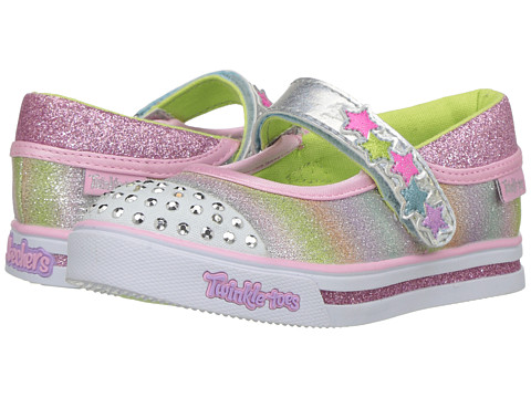 SKECHERS KIDS Chit Chat 10769N Lights (Toddler/Little Kid) - Silver/Multi