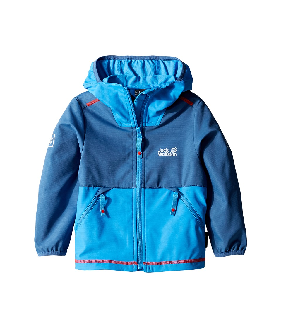 Jack Wolfskin Kids Turbulence Softshell Jacket (Infant/Toddler) (Ocean Wave) Boy