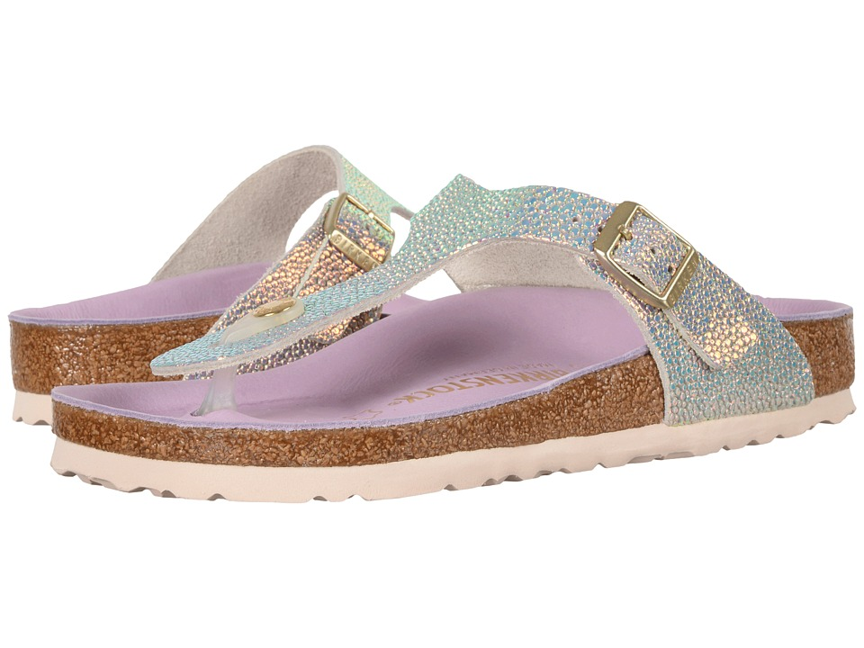 Birkenstock Gizeh Lux Premium Collection (Ombre Pearls Silver) Women