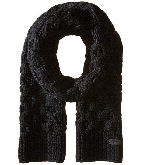 COACH Honeycomb Hand Knit Scarf
