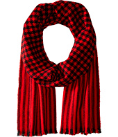Wool Houndstooth Scarf COACH
