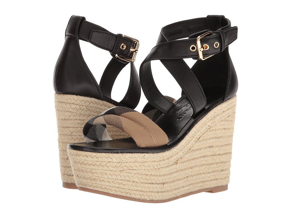 Burberry - Arkinson 90 (Black) Womens Wedge Shoes