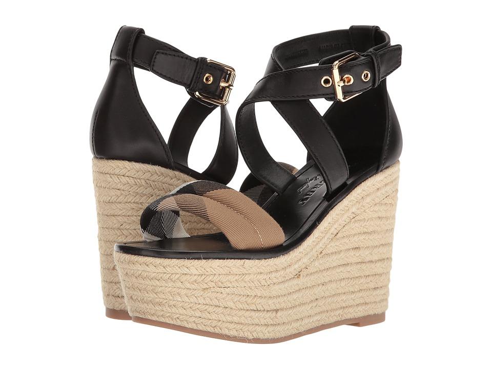 Burberrys Arkinson 90 (Black) Women's Wedge Shoes