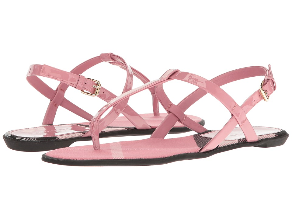 Burberry - Leather Sandals (Berry Pink) Womens Sandals